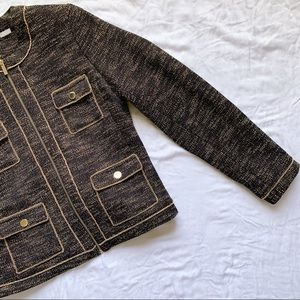 Karl Lagerfeld Jackets & Coats - KARL LAGERFELD Gold Chain Blazer